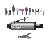 AERO Прямая пневмошлифмашина с набором 15 предметов