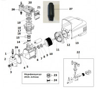 Электродвигатель-помпа (КПП-280-50) 1,8кВт L