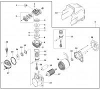 Электродвигатель помпа (GM 142)