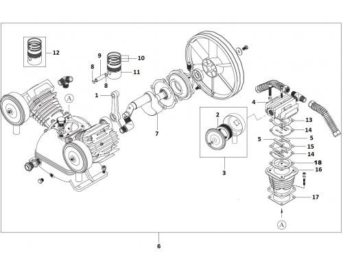 Прокладка цилиндра нижняя (КПР-630-110)